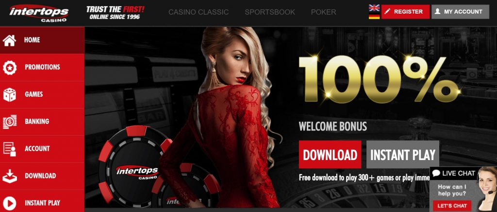 Intertops Online Casino Review