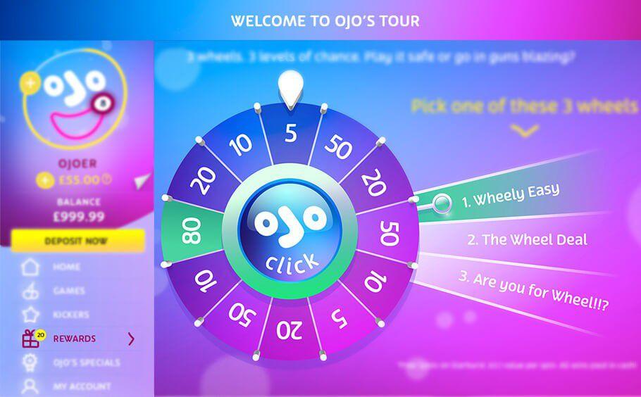 PlayOJO wheel