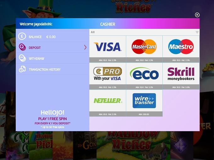 PlayOJO_bank_options