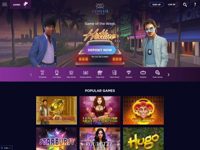Genesis casino lobby